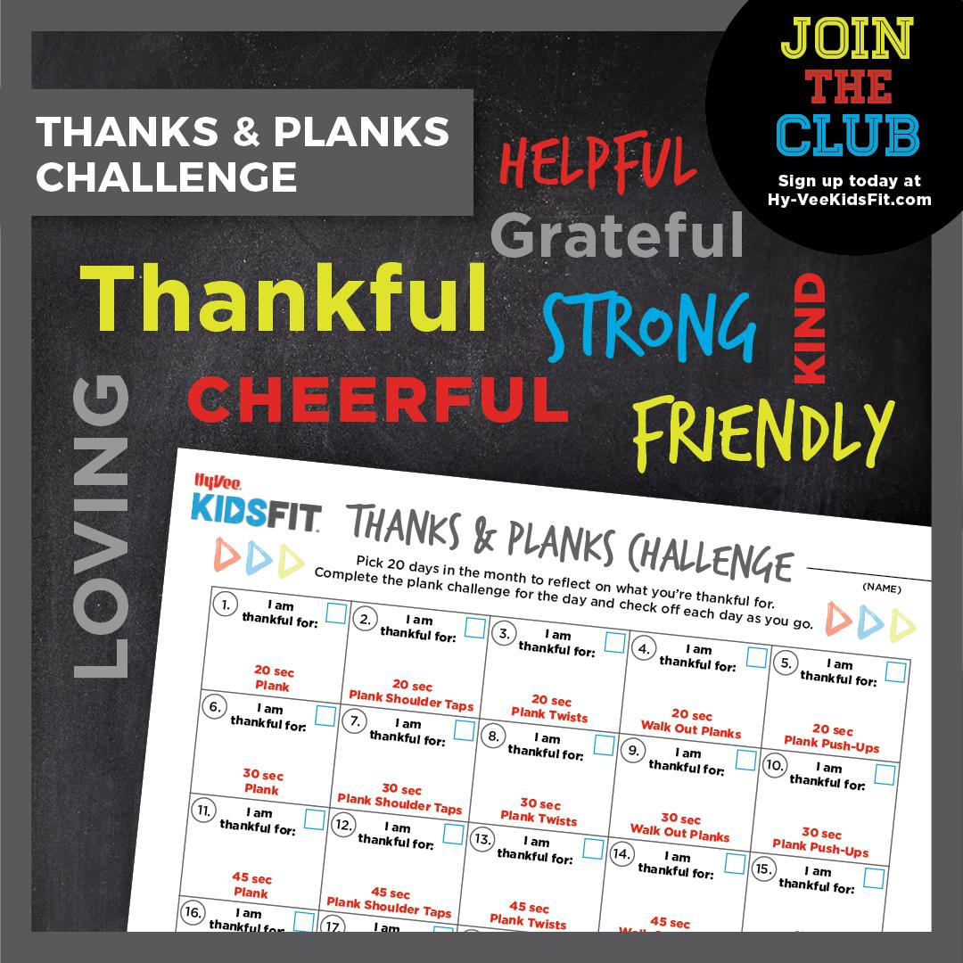 Thanks & Planks Challenge